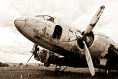 Remains of a Dakota DC3 aircraft Royalty Free Stock Images
