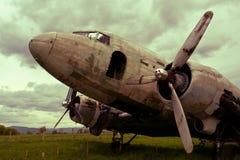 Remains of a Dakota DC3 aircraft stock photo