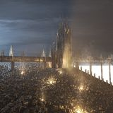 Remains of damned city. Cityscape future 3d Stock Image