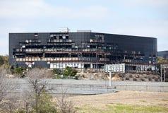 Remains de um edifício de Austin após um ruído elétrico de plano Imagens de Stock Royalty Free
