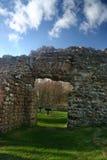 Remains del bagno romano in Cumbria fotografie stock libere da diritti