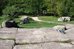 Remains della residenza Werwolf del Adolf Hitler immagine stock