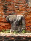 Remains della statua del Buddha Immagini Stock