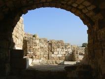 Remains delle strutture romane del porto Fotografie Stock