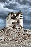 Remains from the demolition of derelict buildings Stock Photo