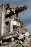 Remains from the demolition of derelict buildings Royalty Free Stock Photos
