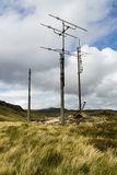 Remains of derelict television repeater station Stock Photo