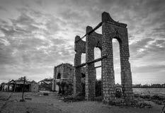Remains of the Dhanushkodi railway station Stock Photography