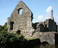 Remains do castelo de Christchurch Foto de Stock