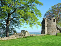Remains do castelo de Kendal foto de stock