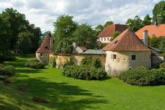 Remains do fortification velho da cidade em Trebon Imagens de Stock Royalty Free