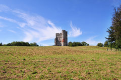 Remains of Donnington Castle in England Stock Images