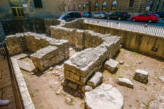 Remains of early Christian church in the center of Zadar city in Croatia Royalty Free Stock Image