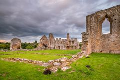 Remains of Egglestone Abbey. The remains of Egglestone Abbey on the banks of River Tees, near Barnard Castle in County Durham Royalty Free Stock Photography