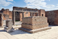Pompeii. Town square Royalty Free Stock Photos
