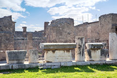 Pompeii. Town square Royalty Free Stock Image