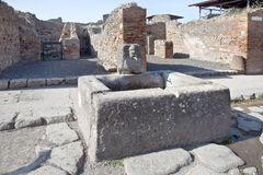 Pompeii. Drinkable fountain Stock Images