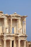 The remains of the enormous Library of Celsus Stock Photo