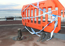 Remains Eric Morecambe Statue, seafront Morecambe Stock Photos