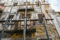 Remains of facade of old building Stock Photos