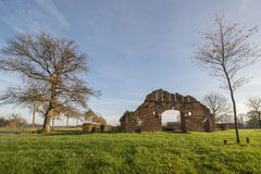 Remains of a farm in Winterswijk in the east of the Netherlands Stock Photo