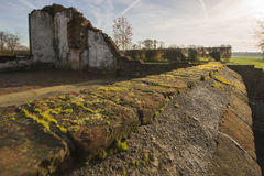 Remains of a farm in Winterswijk in the east of the Netherlands Royalty Free Stock Image