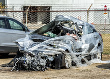 Remains of Fatal Auto Accident Royalty Free Stock Photos
