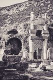 Remains of a Former Civilization in Ephesus stock photography
