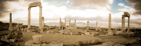 Remains of a Former Civilization in Laodicea. Landscapes seen in laodicea, turkey Royalty Free Stock Photo