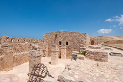 Remains of the Fortezza of Rethymno city. Greece. Stock Photo