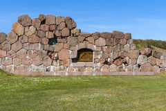 Remains of the fortress of Bomarsund Stock Images