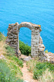 Remains of the Fortress On Cape Kaliakra Stock Image