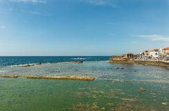Remains of the fortress walls of the city of Akko Royalty Free Stock Image