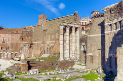 Remains of Forum of Augustus with the Temple of Mars Ultor, Rome, Italy Stock Photos