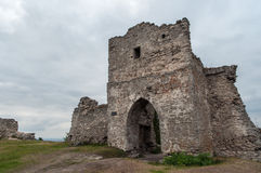 The remains of the gate tower on Castle Hill Stock Image