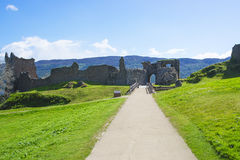 Remains of the Gatehouse of Urquhart Castle in Loch Ness Stock Photography