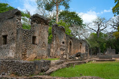 Remains of  Gede in Kenya, Africa Royalty Free Stock Images
