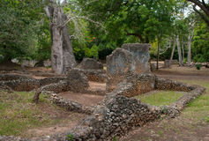 Remains of  Gede, in Kenya, Africa Royalty Free Stock Photos