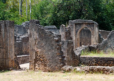 Remains of  Gede in Kenya,. Remains of  Gede, near the town  Malindi in Kenya, Africa Royalty Free Stock Photography