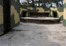 Remains of a German world war 2 bunker in The Netherlands. Remains of a german command and control bunker which was used to detect allied aircraft approaching royalty free stock photo
