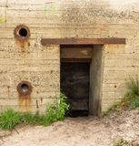 Remains of a German world war 2 bunker in The Netherlands. Remains of a german command and control bunker which was used to detect allied aircraft approaching royalty free stock photos