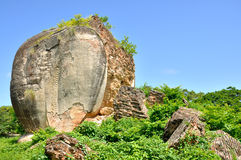 Remains of giant Chinthe in Mingun Royalty Free Stock Photo