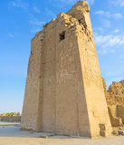 The remains of Great Pylon of Kom Ombo Stock Photography