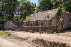 Remains of the gun powder store in Zakynthos Castle Stock Photography