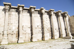 Remains of Hadrian Library in Athens Royalty Free Stock Photos