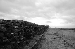 Remains of Hadrian's Mighty Wall stock image