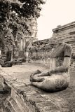Ancient headless buddha images, thailand Stock Image