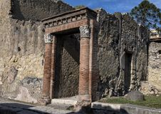Remains of Herculaneum Parco Archeologico di Ercolano. Pictured are remains of Herculaneum in the Parco Archeologico di Ercolano. The archaeological excavations Stock Photo