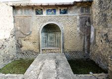 Remains of Herculaneum Parco Archeologico di Ercolano. Pictured are remains of Herculaneum in the Parco Archeologico di Ercolano. The archaeological excavations Royalty Free Stock Image