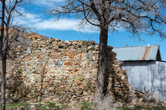 Remains of an historic building, Virginia City, Nevada Stock Photo
